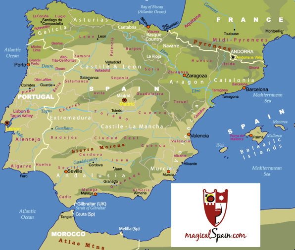 Map Of Jewish Spain.Sephardic Jewish Citizenship News From Spain Visit On Magicalspain Com